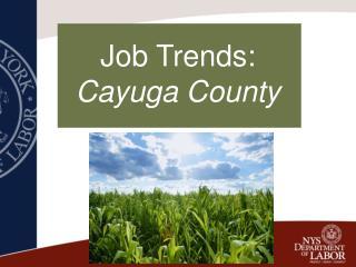 Job Trends: Cayuga County