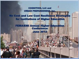 COGNITION, LLC and  URBAN PREPAREDNESS, Inc. No Cost and Low Cost Resilience Strategies
