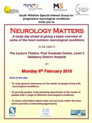 South Wiltshire Special Interest Group for  progressive neurological conditions invite you to
