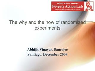 The why and the how of randomized experiments