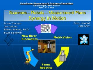 Scanners – Robots – Measurement Plans  Synergy in Motion