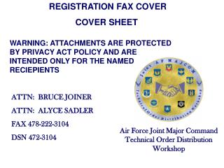 Air Force Joint Major Command Technical Order Distribution Workshop