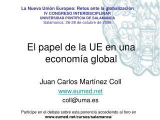 El papel de la UE en una economía global