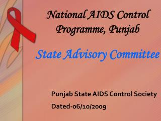 Punjab State AIDS Control Society Dated-06/10/2009