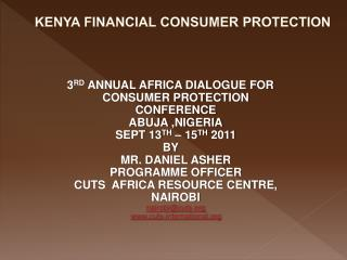 KENYA FINANCIAL CONSUMER PROTECTION