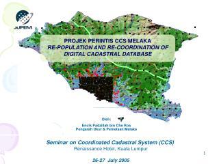 Oleh: Encik Padzillah bin Che Ros Pengarah Ukur & Pemetaan Melaka