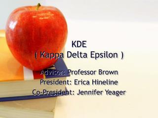 KDE  Kappa Delta Epsilon