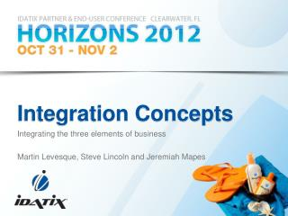 Integration Concepts