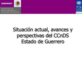 Situación actual, avances y perspectivas del  CCnDS Estado de Guerrero