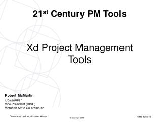Xd Project Management Tools