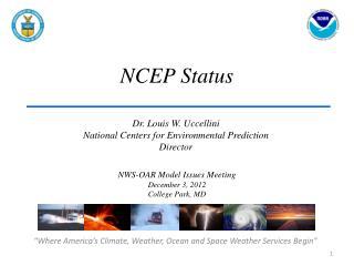 NCEP Status