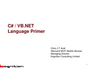 C# / VB.NET Language Primer