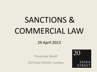 SANCTIONS & COMMERCIAL LAW 29 April 2013