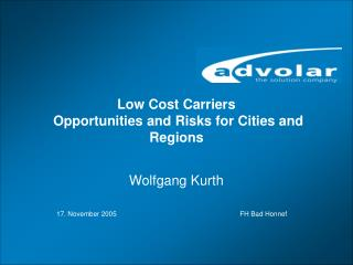 Low Cost Carriers  Opportunities and Risks for Cities and Regions