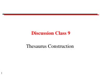Discussion Class 9