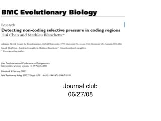 Journal club 06/27/08