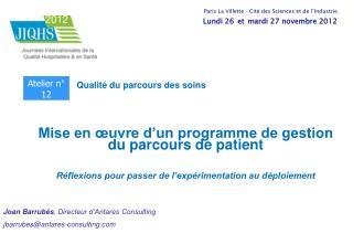 Mise en œuvre d'un programme de gestion du parcours de patient