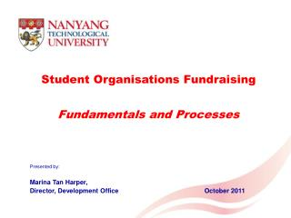 Student Organisations Fundraising Fundamentals and Processes