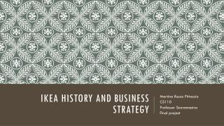 Ikea  history  and business  strategy