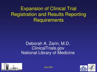 Expansion of Clinical Trial Registration and Results Reporting Requirements