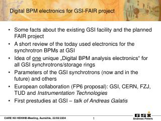 Some facts about the existing GSI facility and the planned FAIR project