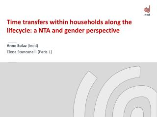 Time transfers within households along the lifecycle: a NTA and gender perspective