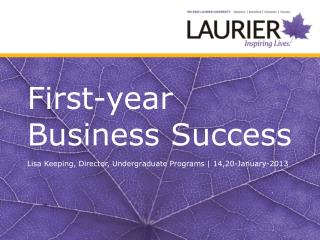 First-year Business Success
