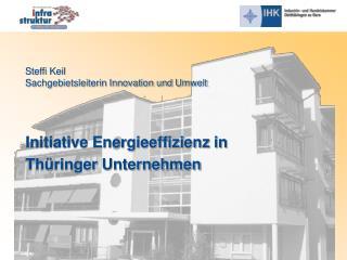 Initiative Energieeffizienz in  Thüringer Unternehmen