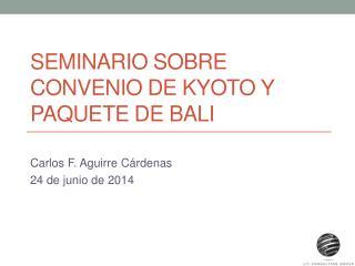 SEMINARIO SOBRE CONVENIO DE KYOTO Y PAQUETE DE BALI
