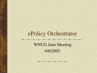 EPolicy Orchestrator