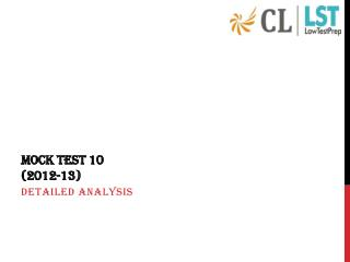 MOCK TEST 10 (2012-13)