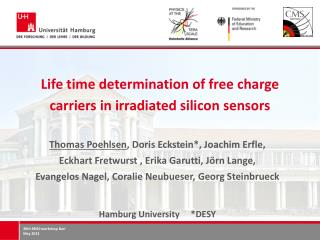 Life time determination of free charge carriers in irradiated silicon sensors