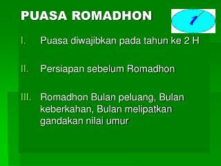 PUASA ROMADHON
