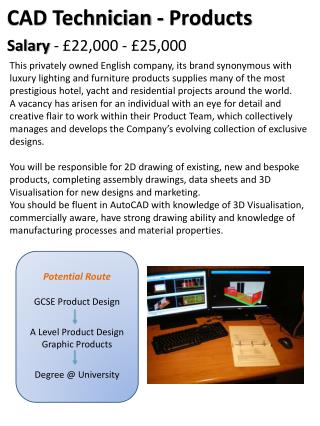 Potential Route GCSE Product Design A Level Product Design  Graphic Products Degree @ University