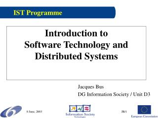 Introduction to  Software Technology and Distributed Systems