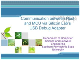 Communication between Host and MCU via Silicon Lab's USB Debug Adapter