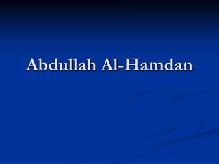 Abdullah Al-Hamdan