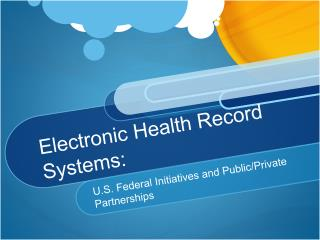 Electronic Health Record Systems: