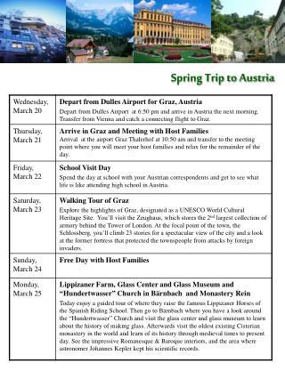 Spring Trip to Austria