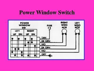 Power Window Switch