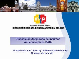 DIRECCIÓN NACIONAL DE NORMATIZACIÓN DEL SNS