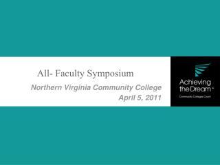 Northern Virginia Community College April 5, 2011