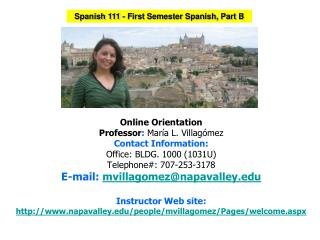 Spanish  111  - First Semester  Spanish, Part B