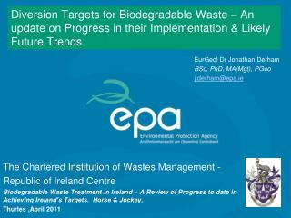 The Chartered Institution of Wastes Management - Republic of Ireland Centre
