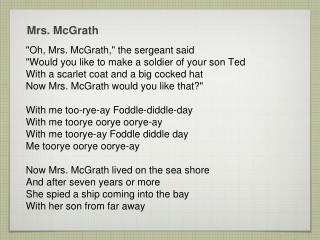Mrs. McGrath