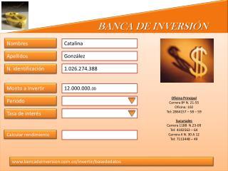 BANCA DE INVERSI�N