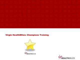 Virgin HealthMiles: Champions Training
