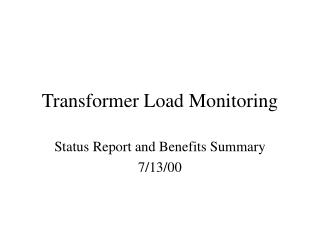 Transformer Load Monitoring