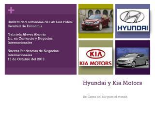 Hyundai y Kia Motors