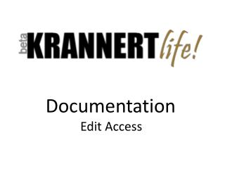 Documentation Edit Access